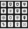 Shield icons set in simple style vector image