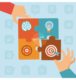 start up success - puzzle vector image