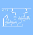 thin line style assembly line vector image