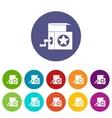 Music box set icons vector image