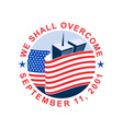 american flag with twin tower building 911 vector image vector image