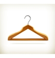 Wooden clothes hangers icon vector image vector image