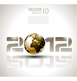 2012 techno background vector image