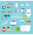 Hygiene icons set isolated on white vector image