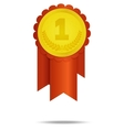 number one rosette vector image