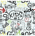 Children s seamless pattern with letters on a vector image