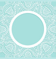 background with lace pattern ornament frame vector image