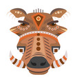 boar head logo decorative emblem vector image