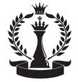 Chess king vector image