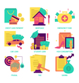 Finance and money flat design icon vector image