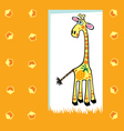 fruity giraffe vector image