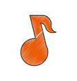 music note tune vector image