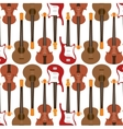seamless pattern guitar electric traditional vector image