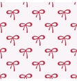 Seamless watercolor pattern with red bows on the vector image