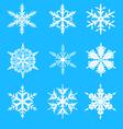 Snowflakes decorative set vector image