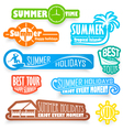 Summer labels vector image