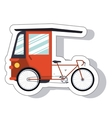 rickshaw service isolated icon vector image