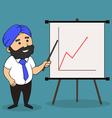 indian presentation vector image
