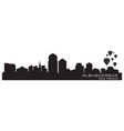 Albuquerque New Mexico skyline Detailed silhouette vector image vector image