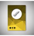 brochure book flyer design template - yellow vector image