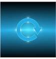 cycle arrow light vector image