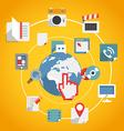 Flat design modern web media network concept vector image vector image