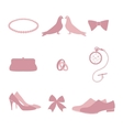 Wedding invitation vintage design elements vector image