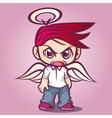 CHibi angel vector image