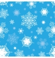 Azure Blue White Ornate Snowflakes Seamless vector image