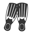black and white diving fins graphic vector image