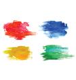 Colorful watercolor design elements vector image