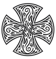 Cross tribal tattoo vector image