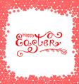 easter flower frame pink vector image