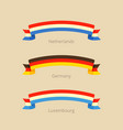 flag of netherlands germany and luxembourg vector image