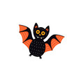 flat halloween black bat vector image