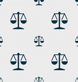 Libra icon sign Seamless pattern with geometric vector image