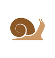 Snail logo template Simple flat colors silhouette vector image