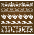 set of vintage calligraphic ornaments vector image vector image