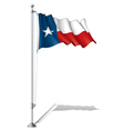 Flag Pole Texas vector image