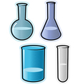 objects for chemical lab vector image vector image