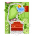 landscape plan vector image vector image