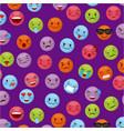 emoticon faces design vector image