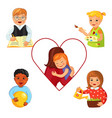 children with down syndrome vector image