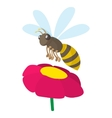 Bee icon cartoon style vector image vector image