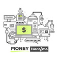 creative professional mechanism for money vector image