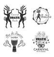 Brazilian Carnival big set of logo and emblem vector image