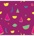 bright lovely pattern with hand drawn fruits as vector image