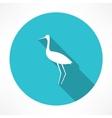 heron icon vector image