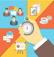 Time Management Business Concept vector image