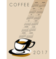 2017 Cal Coffee Cup vector image
